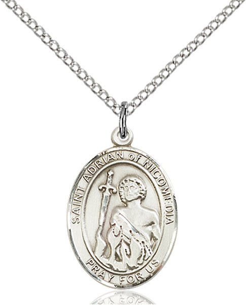 St. Adrian of Nicomedia Pendant St. Adrian Of Nicomedia ,Prison Guards and Soldiers,Patron Saints,Patron Saints - A, sterling silver medals, gold filled medals, patron, saints, saint medal, saint pendant, saint necklace, 8353,7353,9353,7353SS,8353SS,9353SS,7353GF,8353GF,9353GF,