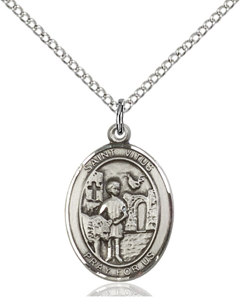 St. Vitus Pendant St. Vitus ,Actors and Comedians,Patron Saints,Patron Saints - V, sterling silver medals, gold filled medals, patron, saints, saint medal, saint pendant, saint necklace, 8368,7368,9368,7368SS,8368SS,9368SS,7368GF,8368GF,9368GF,