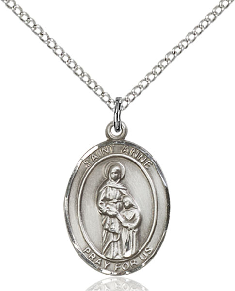 St. Anne Pendant St. Anne ,Housekeepers and Mothers,Patron Saints,Patron Saints - A, sterling silver medals, gold filled medals, patron, saints, saint medal, saint pendant, saint necklace, 8374,7374,9374,7374SS,8374SS,9374SS,7374GF,8374GF,9374GF,