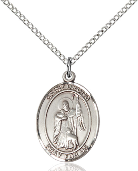 St. Drogo Pendant St. Drogo ,Travelers and Motorists,Patron Saints,Patron Saints - C, sterling silver medals, gold filled medals, patron, saints, saint medal, saint pendant, saint necklace, 8386,7386,9386,7386SS,8386SS,9386SS,7386GF,8386GF,9386GF,