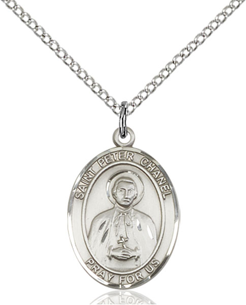 St. Peter Chanel Pendant St. Peter Chanel ,World Youth Day,Patron Saints,Patron Saints - P, sterling silver medals, gold filled medals, patron, saints, saint medal, saint pendant, saint necklace, 8397,7397,9397,7397SS,8397SS,9397SS,7397GF,8397GF,9397GF,