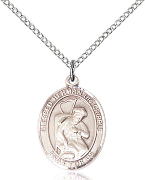 Blessed Herman The Cripple Pendant Blessed Herman The Cripple,Patron Saints,Patron Saints - H, sterling silver medals, gold filled medals, patron, saints, saint medal, saint pendant, saint necklace, 8403,7403,9403,7403SS,8403SS,9403SS,7403GF,8403GF,9403GF,