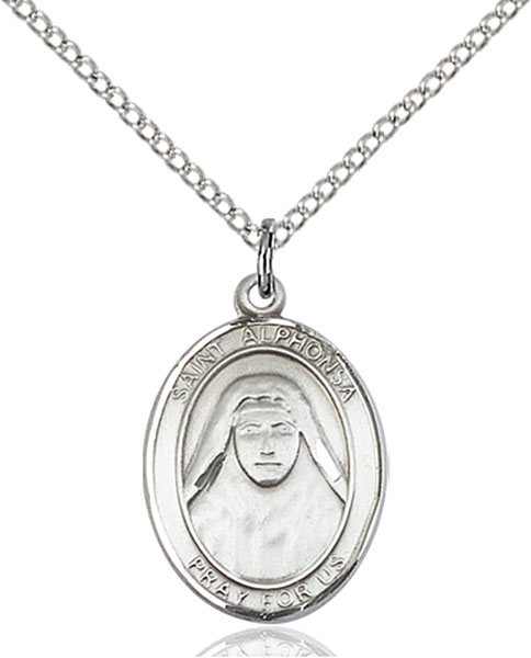 St. Alphonsa Pendant St. Alphonsa ,Against Illness,Patron Saints,Patron Saints - A, sterling silver medals, gold filled medals, patron, saints, saint medal, saint pendant, saint necklace, 8406,7406,9406,7406SS,8406SS,9406SS,7406GF,8406GF,9406GF,