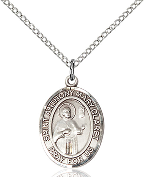 St. Anthony Mary Claret Pendant St. Anthony Mary Claret ,Weavers and Catholic Press,Patron Saints,Patron Saints - a, sterling silver medals, gold filled medals, patron, saints, saint medal, saint pendant, saint necklace, 8416,7416,9416,7416SS,8416SS,9416SS,7416GF,8416GF,9416GF,