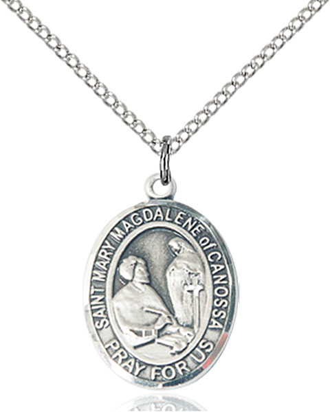 St. Mary Magdalene of Canossa Pendant St. Mary Magdalene Of Canossa,Patron Saints,Patron Saints - M, sterling silver medals, gold filled medals, patron, saints, saint medal, saint pendant, saint necklace, 8429,7429,9429,7429SS,8429SS,9429SS,7429GF,8429GF,9429GF,