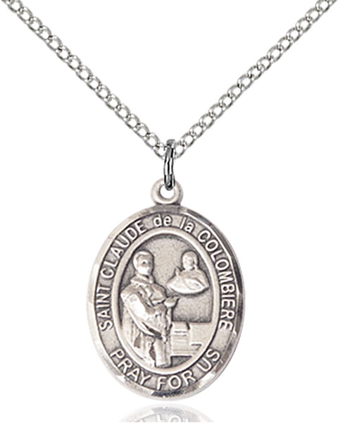St. Claude De La Colombiere Pendant St. Claude De La Colombiere ,Toy Makers and Turners,Patron Saints,Patron Saints - C, sterling silver medals, gold filled medals, patron, saints, saint medal, saint pendant, saint necklace, 8432,7432,9432,7432SS,8432SS,9432SS,7432GF,8432GF,9432GF,