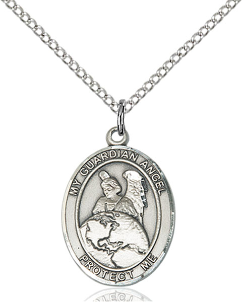 Guardian Angel Protector Pendant Guardian Angel Protector,Unusual & Specialty,Angels, sterling silver medals, gold filled medals, patron, saints, saint medal, saint pendant, saint necklace, 8440,7440,9440,7440SS,8440SS,9440SS,7440GF,8440GF,9440GF,