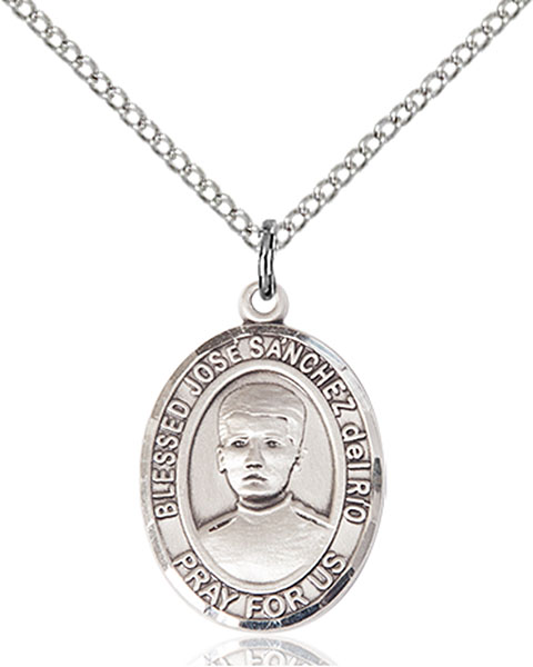 Blessed Jose Canchez Del Rio Pendant Blessed Jose Canchez Del Rio,Patron Saints,Patron Saints - J, sterling silver medals, gold filled medals, patron, saints, saint medal, saint pendant, saint necklace, 8446,7446,9446,7446SS,8446SS,9446SS,7446GF,8446GF,9446GF,