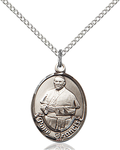 Pope Francis Pendant Pope Francis,Unusual & Specialty,POPE FRANCIS, sterling silver medals, gold filled medals, patron, saints, saint medal, saint pendant, saint necklace, 8451,7451,9451,7451SS,8451SS,9451SS,7451GF,8451GF,9451GF,