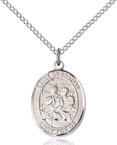 St Sebastian / Choir Pendant St Sebastian / Choir ,Athletes and Soldiers,Patron Sports,Choir, sterling silver medals, gold filled medals, patron, saints, saint medal, saint pendant, saint necklace, 8614,7614,9614,7614SS,8614SS,9614SS,7614GF,8614GF,9614GF,