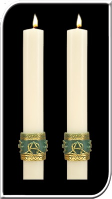 Celtic Imperial Side Altar Candles Celtic Imperial, Paschal side Candle, Easter Candle, Side Candle, Complementing, Easter, Dadant, resurrection,Lent,Beeswax, candle, Beeswax candle, Easter Vigil, 69827, 69927, 69627, 69727