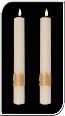 Ornamented Side Altar Candle ornamented, Paschal side Candle, Easter Candle, Side Candle, Complementing, Easter, Dadant, resurrection,Lent,Beeswax, candle, Beeswax candle, Easter Vigil, 69818, 69918, 69618, 69718