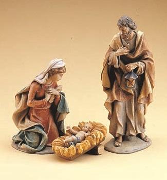1950 3%27 Holy Family Set in Fiberglass 1950, Holy Family, Fiberglass, Demetz