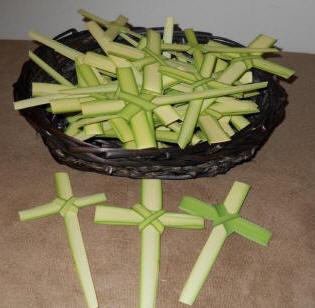 Small Palm Cross palm, palm sunday, easter, ash, ash wednesday, lent, palm strips, palm cross, palm crosses, distribution