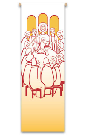 Last Supper Banner 7134, banners,  banner, Last Supper, banner, decoration, church decoration, decor, church decor, wall hangings, sanctuary appointments, appointments