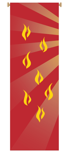 Red Flames Banner 7150,Banner, Banners, Red Banner, Penecost, Confirmation Banner, Flames, Holy Spirit, Holy Spirit Banner, sacrament banner, decoration, church decoration, decor, church decor, wall hangings, sanctuary appointments, appointments, SL-7150,