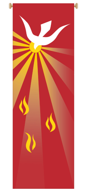 Red Holy Spirit Banner 7151,Banner, Banners, Red Banner, Penecost, Confirmation Banner, Flames, Holy Spirit, Holy Spirit Banner, sacrament banner, decoration, church decoration, decor, church decor, wall hangings, sanctuary appointments, appointments, SL-7151,