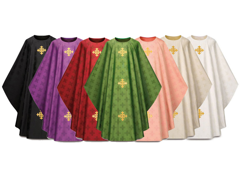 3978 Gothic Chasuble in Adornes Fabric 3978, Chasuble, Slabbinck, Adornes, Gothic Chasuble, vestment, priest garment, vestment, apparel, chasable