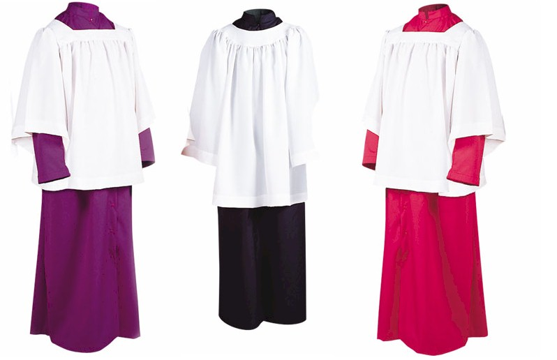 215 Abbey Brand Server Cassock server cassock, snap front, button front, roman cassock, server apparel, alter textile, vestments, alter server, 215s, 215u