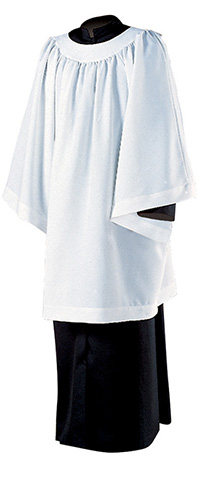 335 Abbey Brand Liturgical Surplice surplice, clergy apparal, tailored priest surplice, church goods, church supplies, abbey brand, mahalme vestments, 335, liturgical