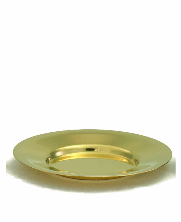 379G Paten  church goods, church supplies, paten, communion supplies, gold plated, 379G