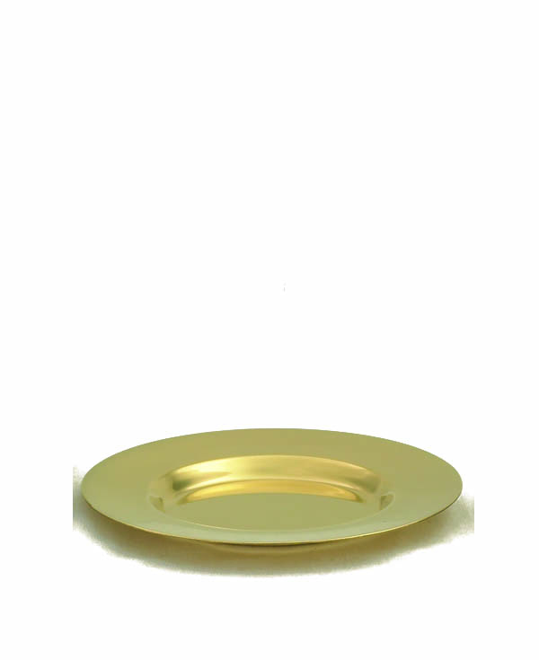 380G Paten   church goods, church supplies, paten, communion supplies, gold plated, 380G