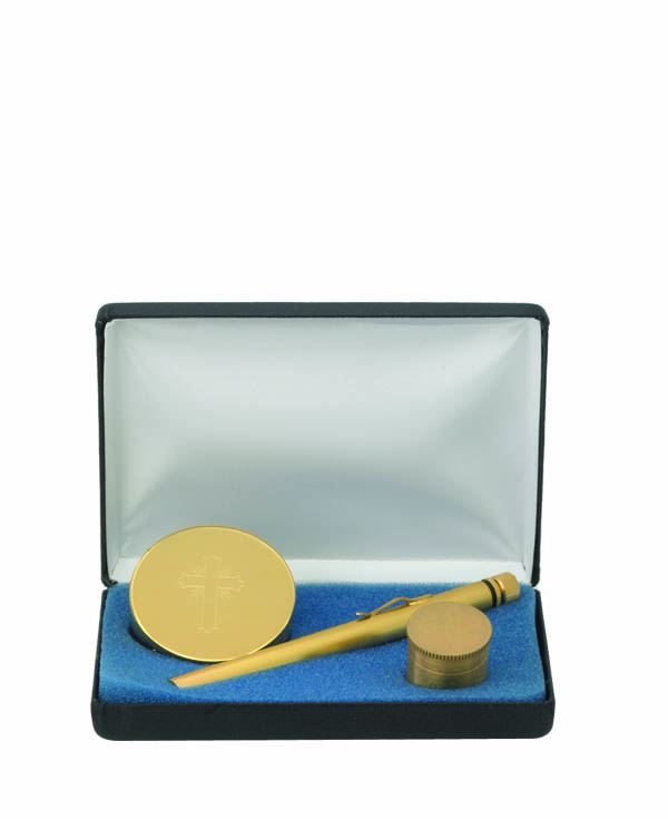 9170G Pastoral Gift Set gift set, sprinkler, oil, pyx, sick call set, case, alviti creations, 9170g