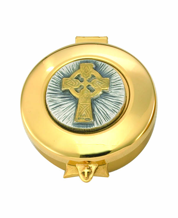 9952G Pyx  pyx, sacred vessal, host carrier, alviti creations, 9952g, church good, eucharistic minister,