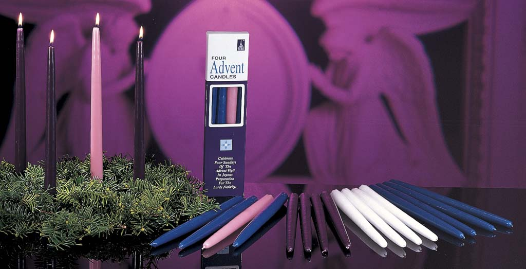 "12"" Advent Taper Candle (Individual) 12"" Advent Taper Candle,purple advent candle, pink advent candle, rose advent candle, blue advent candle, white advent candle, 82702401,82702701,82702201,82702801"