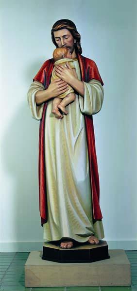 Jesus with Newborn Statue