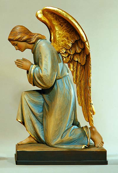 Adoring Kneeling Angel Statue