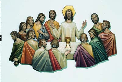 Last Supper Wall Relief by Angelo Gherardi