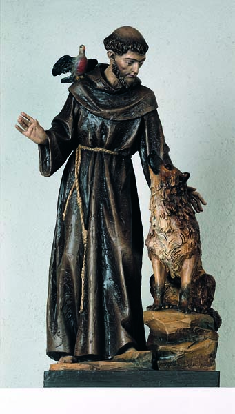 St. Francis of Assisi with Wolf Statue