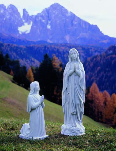 Our Lady of Lourdes and Bernadette Statue