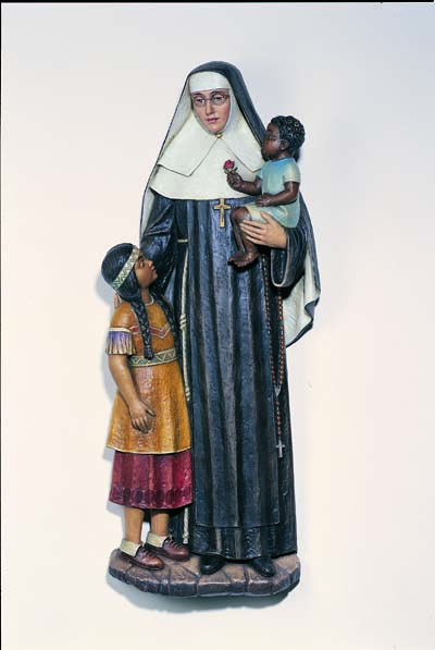 Mother Katherine Drexel with Two Children