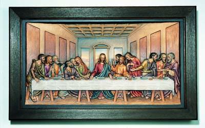 Last Supper Framed Relief by Leonardo da Vinci