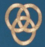 Embroidered Trinity Knot Applique applique, irish knot,trinity knot, hand embroidered, church goods, apparel designs, 1340. gaiser, beau veste,