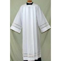 4262 Clergy Alb alb, monks cloth, linen weave, mens albs, church supplies, 4262, gaiser, beau veste, eyelet,