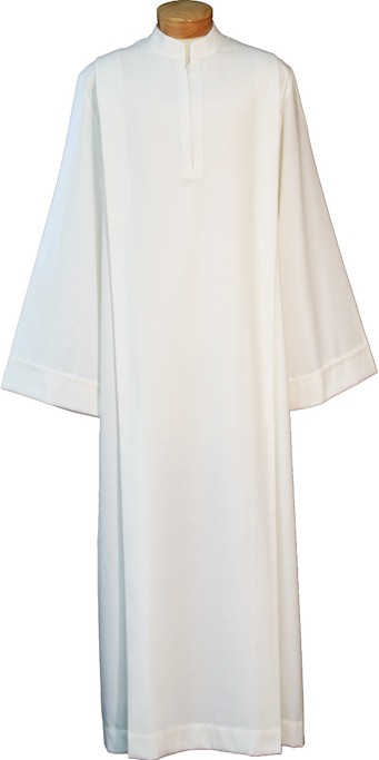4338 Clergy Alb alb, monks cloth, linen weave, mens albs, church supplies, 4338, gaiser, beau veste,zipper