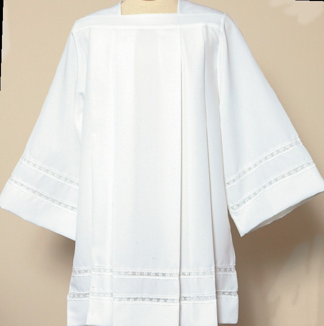 4771 Surplice surplice, clergy apparal, tailored priest surplice, church goods, church supplies, beau veste, gaiser, 4771