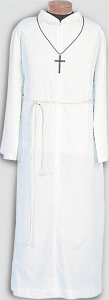 556 Server Alb with Capuche alb, monks cloth, linen weave, server albs, church supplies, 556, gaiser, beau veste