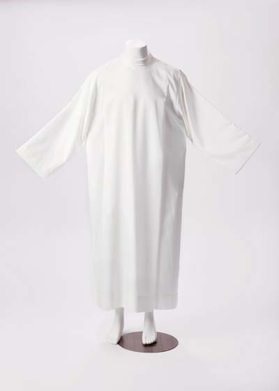 28 C/200 Tergal Alb 28 C/200 Tergal Alb, Sorgente, Manantial, Alba, robe, white priest alb, clergy alb, pull over alb, side zipper