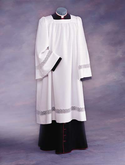 RJ Toomey Liturgical Clergy Surplices with Lace Inserts RJ Toomey Liturgical Clergy Surplices with Lace Inserts,885