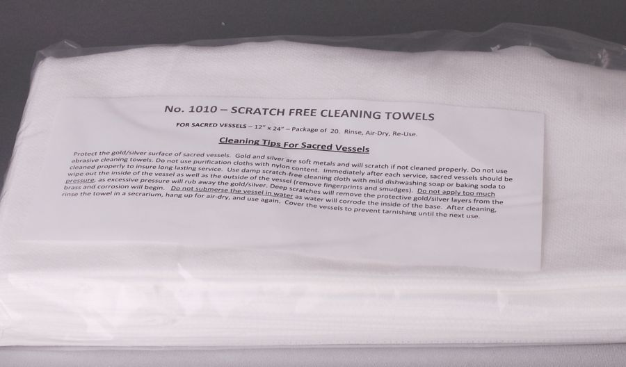 Scratch Free Cleaning Towel for Sacred Vessels Scratch Free Cleaning Towel for Sacred Vessels,1010